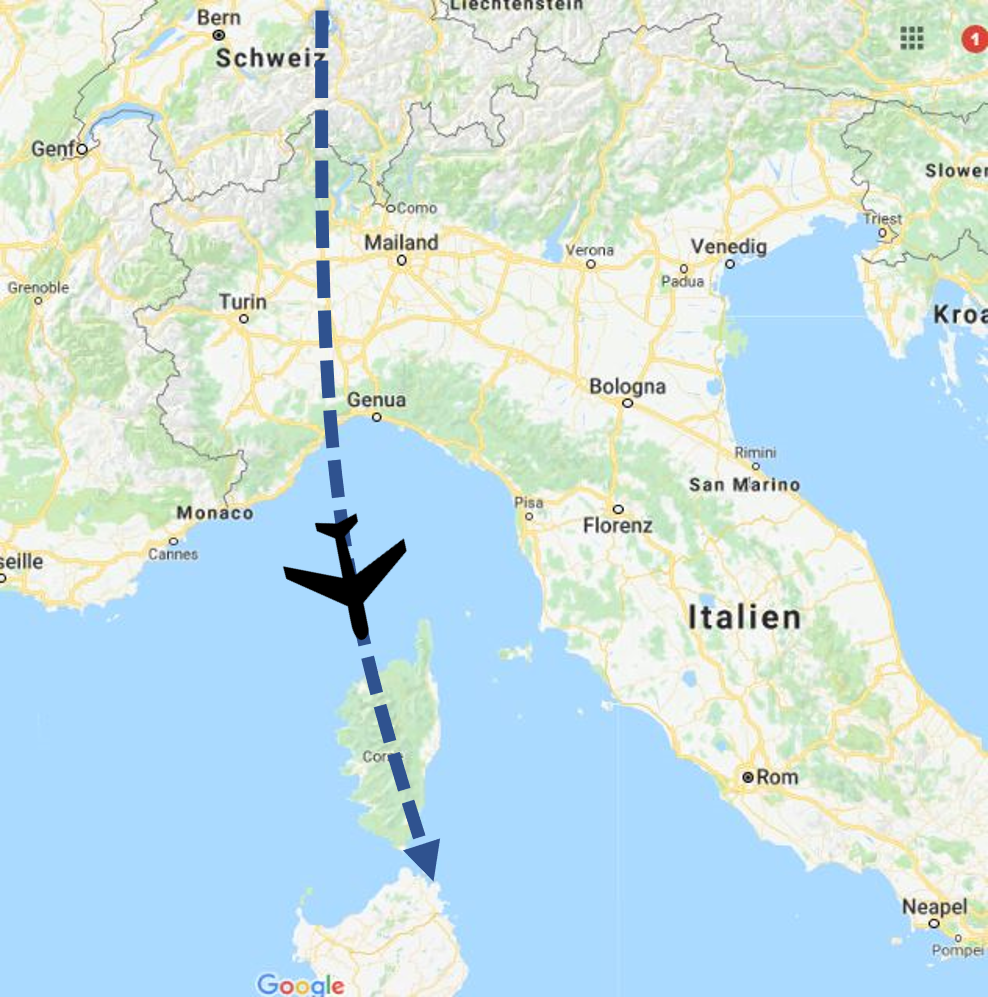 Anreise Meilentörn Sardinien Segelboot Segelkatamran