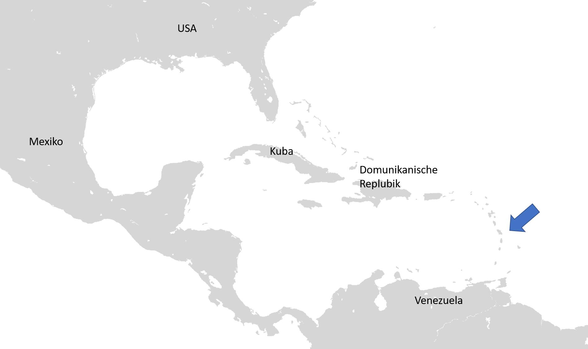 Meilentörns Karibik Motorboot und Segelboot Map