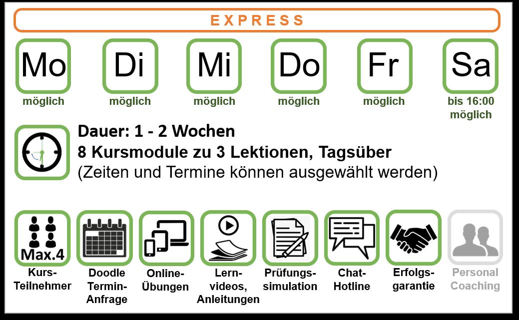 Kursangebot Hochsee-Theoriekurs Variante Express