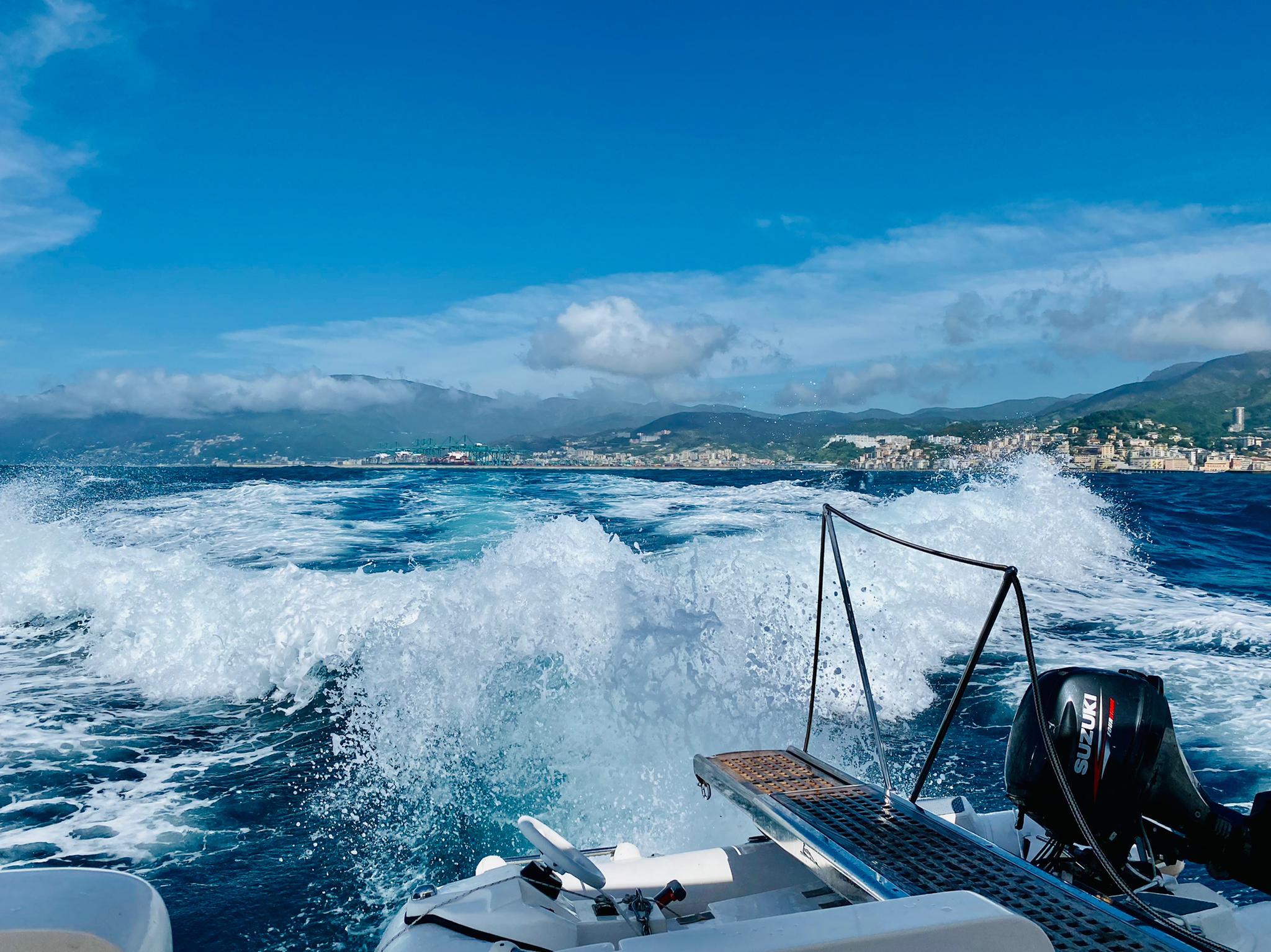 Meilentörns Yacht in voller Fahrt