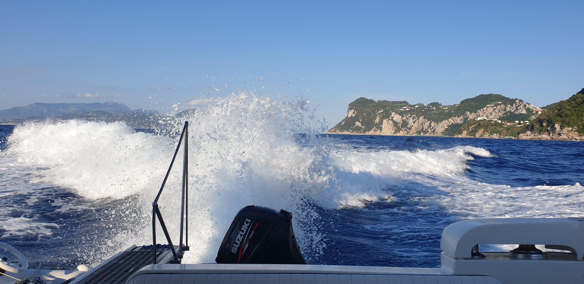 Fahrt nach Capri mit Motorboot Meilentörn