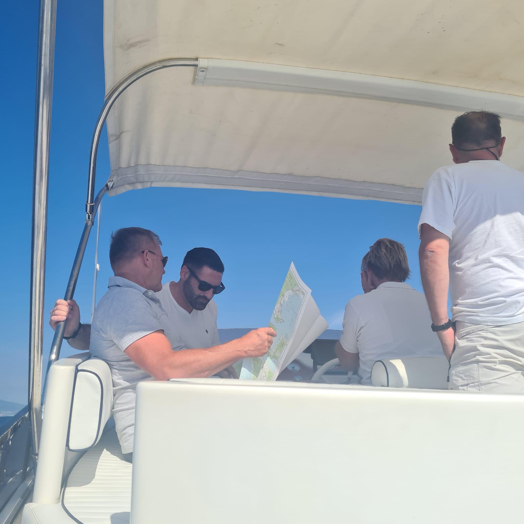 Impressionen Meilentörns Kartennavigation mit der Seekarte