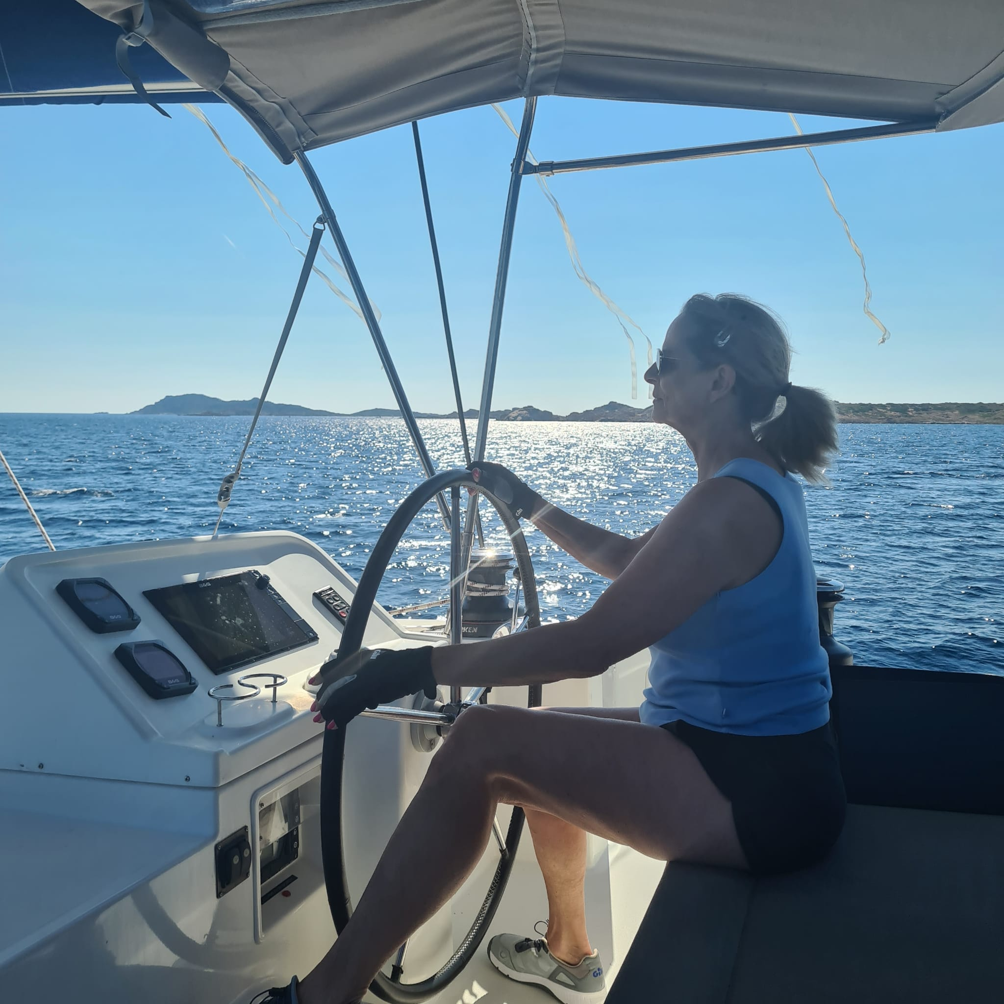 Impressionen Meilentörns Segelboot Sardinien Ausfahrt