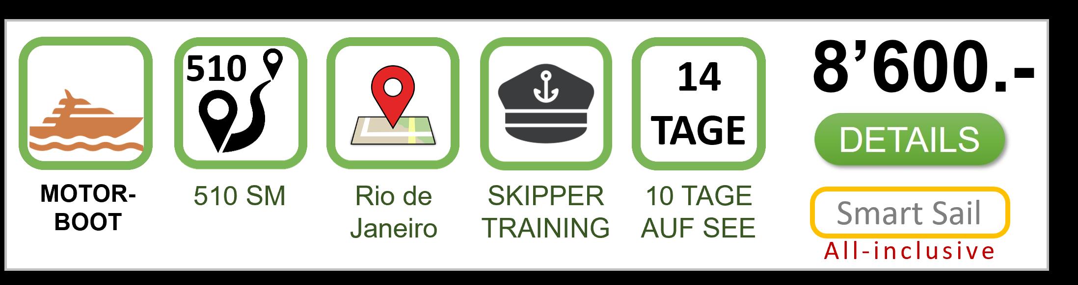 Kurszbeschreibung Motorboot Meilentörn Brasilien